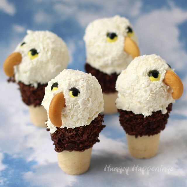 Mini Ice Cream Cone Eagles from HungryHappenings.com