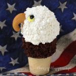 Celebrate America on 4th of July or any day by serving these awe inspiring Ice Cream Cone Eagles.