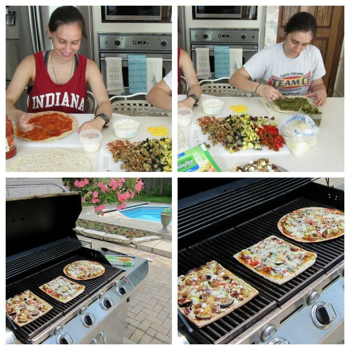 Go meatless without sacrificing flavor. These grilled veggie pizzas are amazing.