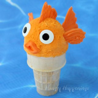Orange Ice Cream Cone Goldfish