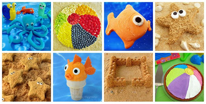 Make a splash at your pool party by serving these fun treats to your guests. Recipes at HungryHappenings.com