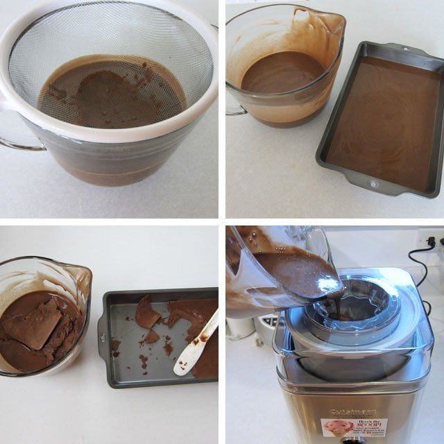 How to make homemade chocolate cashew milk ice cream. It's amazing! Recipe at HungryHappenings.com