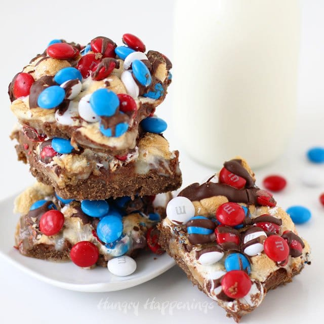 Bake up a batch of S'mores Magic Bars to enjoy the taste of toasted marshmallows, graham crackers and chocolate without a campfire. These red, white and blue treats will add a festive touch to your July 4th dessert table.
