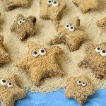 Turn store bought marshmallows into adorable S'mores Starfish for your beach themed summer party. No fire needed!