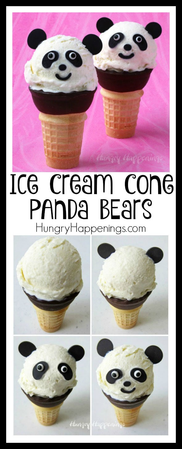 You'll be amazed at how easy it is to get the rich creamy flavor of vanilla custard in a no churn ice cream which can be used to make these adorable Ice Cream Cone Panda Bears.
