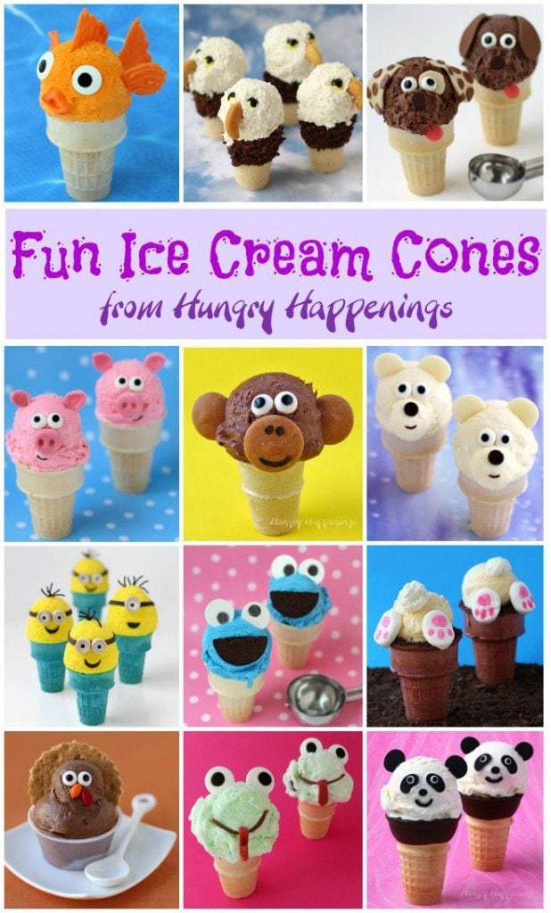 Create some fun in your kitchen this summer by making these cute ice cream cones.