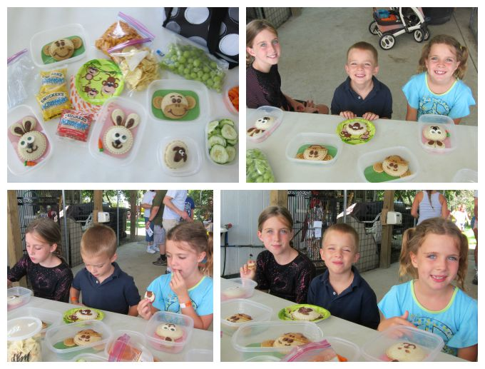 Kid's will love eating fun animal themed sandwiches on their day out at the zoo.