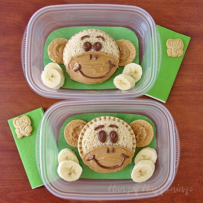 A day out at the zoo can be expensive and tiring, so bring along some Monkey Sandwiches for your kids. They'll fill them up and make them happy.