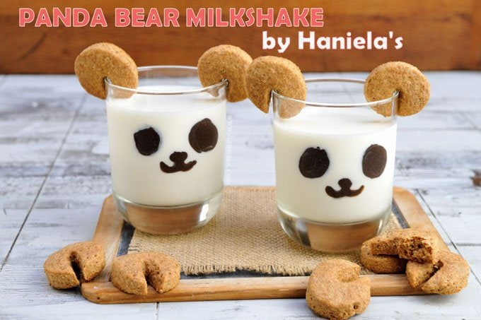 Panda Bear Milkshakes with Cookie Ears