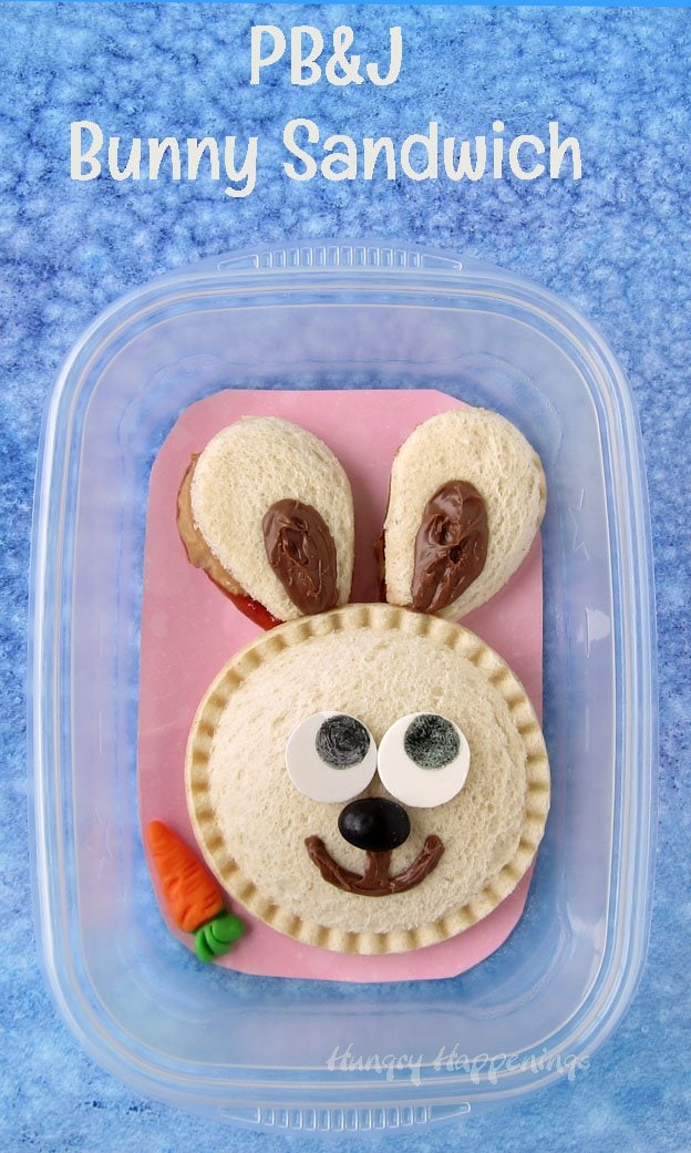 PB&J Bunny Sandwiches are so easy to make using Smucker's® Uncrustables®.