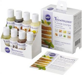 Wilton's Treatology Flavor System has 8 flavors including Vanilla Custard that can be used to flavor ice cream.