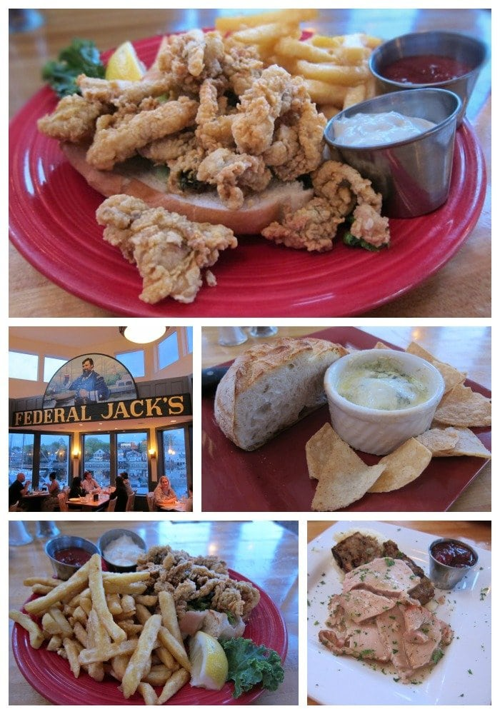 Dinner at Federal Jacks, Portland, Maine.