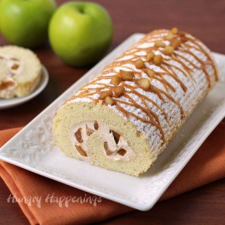 Caramel Apple Cake Roll