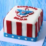 Surprise your friends and family when you slice into this Eagle Scout Reveal Cake. It will blow them away! Check it out at Hungry Happenings.