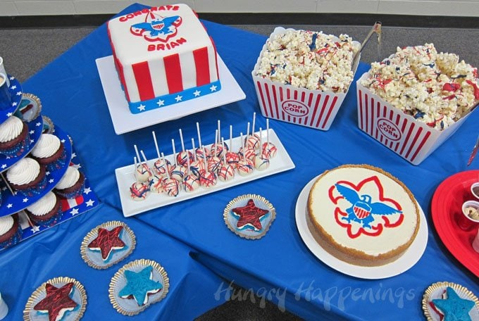 Want some fun dessert ideas for your Eagle Scout Ceremony? Check out Hungry Happenings for some tutorials.