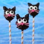 Peanut Butter Fudge Filled Black Cat Pops