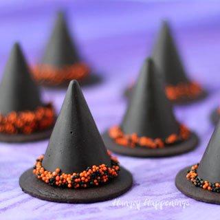Nutella Fudge Witch Hats