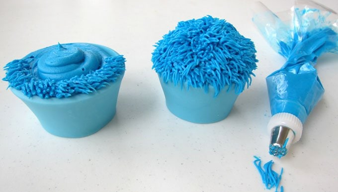 Add frosting fur to your cupcakes to make adorable cupcake monsters for Halloween. They are so fun to make and even more enjoyable to eat.