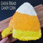 Top a candy corn shaped loaf of bread with yellow, orange, and white cheese to make a festive side dish for your Halloween dinner. See the recipe at Hungry Happenings.