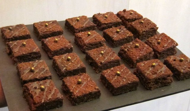Chocolate coffee flavored brownies.