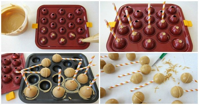 Transform rich and cream peanut butter fudge into lollipops. You can decorate them to look like cauldrons or cats for Halloween.