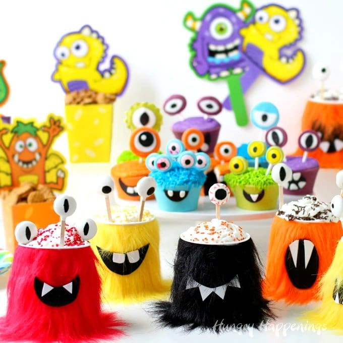 Grab the kids and have some fun turning NABISCO Go-Paks! into sweet Halloween Monster Party Snack Cups. Each brightly colored furry monster has it's belly filled with Snack Pack Pudding mousse and NABISCO cookies and is topped with a swirl of Reddi-wip and colorful sprinkles. This post is sponsored by #CollectiveBias  and it's advertiser. #SnackAndGo