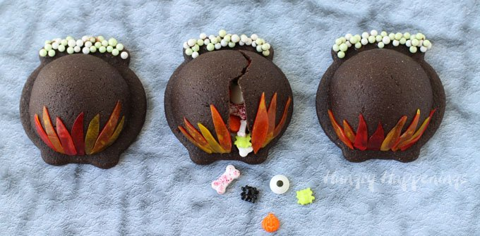 Conjure up a magical Halloween treat. These fun Candy Filled Cauldron Cookies will cast a spell on your family and friends.