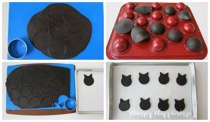 Learn how to make Black Cat Candy filled Cookies for Halloween. See the tutorial at HungryHappenings.com.