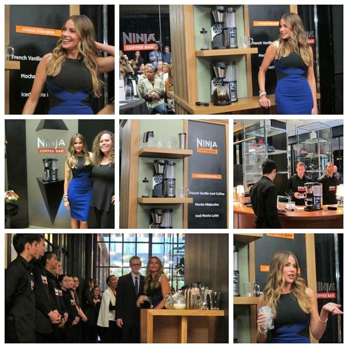 Sofia Vergara launches the new Ninja Coffee Bar in New York city.