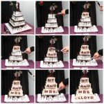 Create a wedding cake with a surprise hiding inside. When the bride and groom cut the cake, their friends and family will be in awe to see their new married name written in the cake layers.