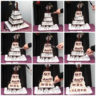 Surprise Wedding Gift For Groom : ... Wedding Cake with a Surprise Hiding Inside - Hungry Happenings