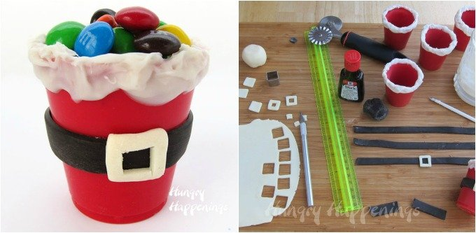Eat the candy and eat the cup. This Santa Suit Candy Cup is completely edible.