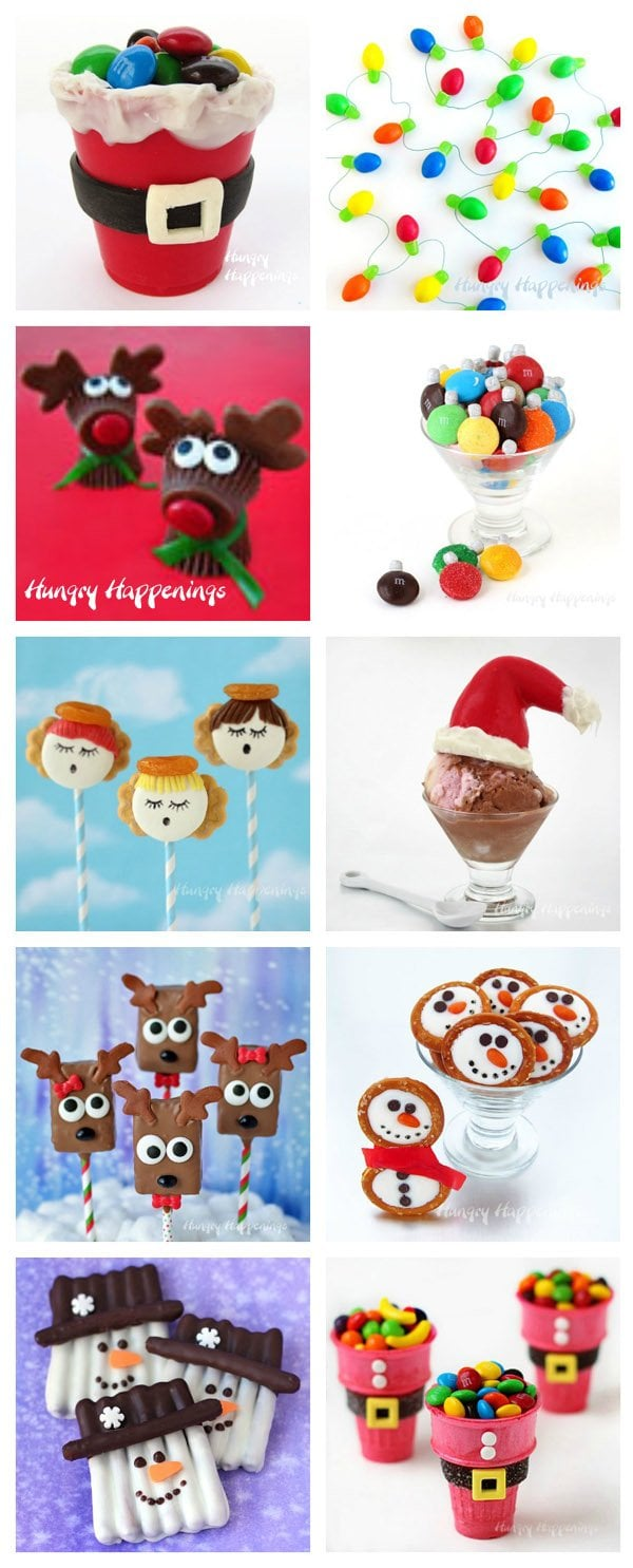 Fun Christmas Food Crafts for Kids. See the tutorials at Hungry Happenings.