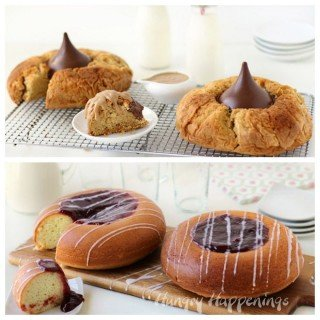 Giant Peanut Blossom Cookie Cakes and Raspberry Thumbprint Cookie Cakes