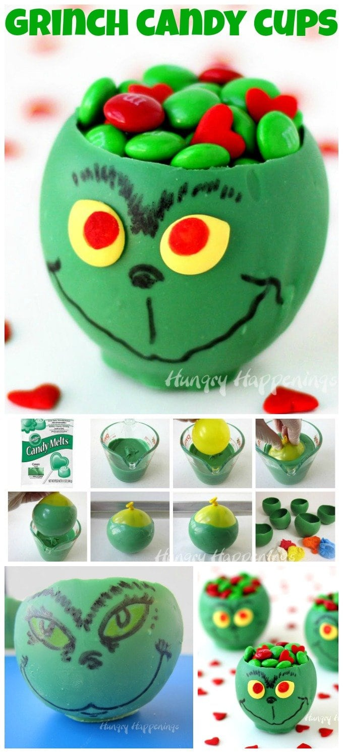 Grinch Candy Cups - Fun Christmas Candy and Crafts