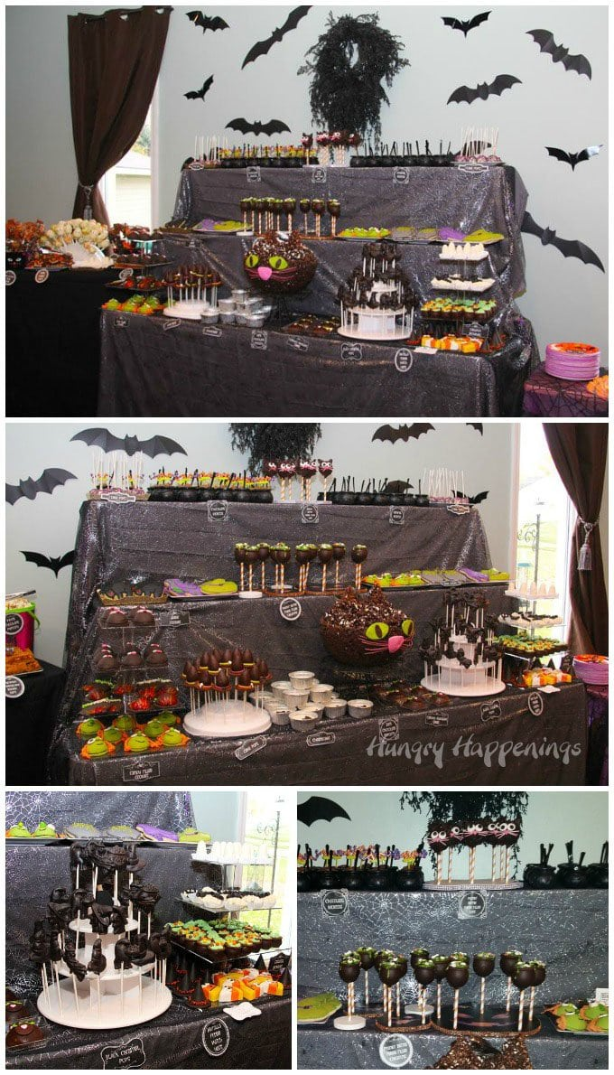 Conjure up some fun this Halloween and create an elaborate table filled with witch themed desserts.