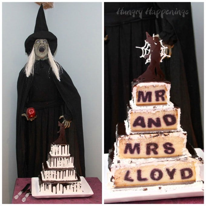 Cut into your wedding cake to reveal your new married name hiding inside. Your guests will be in awe.