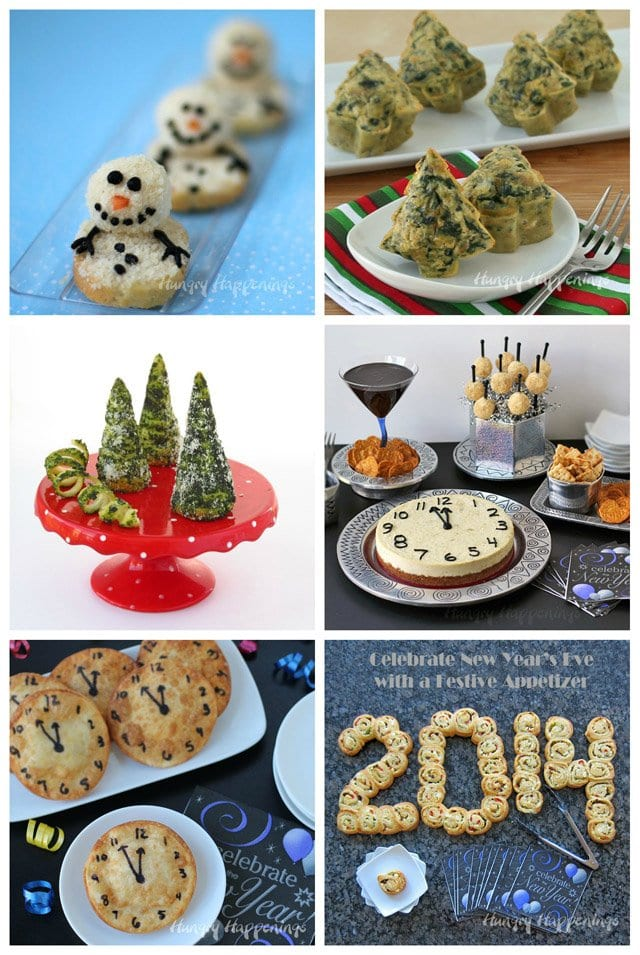 Serve up some fun this holiday season by making one of these festive appetizers. See the recipes at HungryHappenings.com.