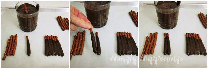 how to make chocolate pretzel sculptures