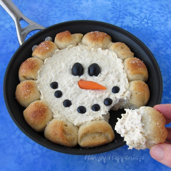 Warm Up With Winter A Skillet Full Of Hot En Dip Surrounded By Rolls