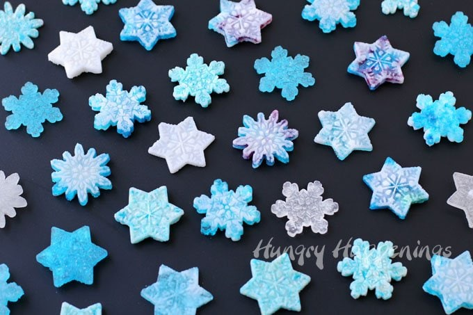 It's easy to turn Turn store bought hard candy into beautiful snowflakes. See the tutorial at HungryHappenings.com.