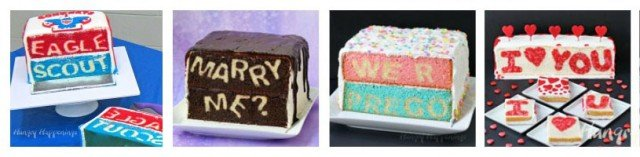 Surprise hiding inside cakes are so much fun. Cut into them to reveal the surprise and your party guests will be in awe.