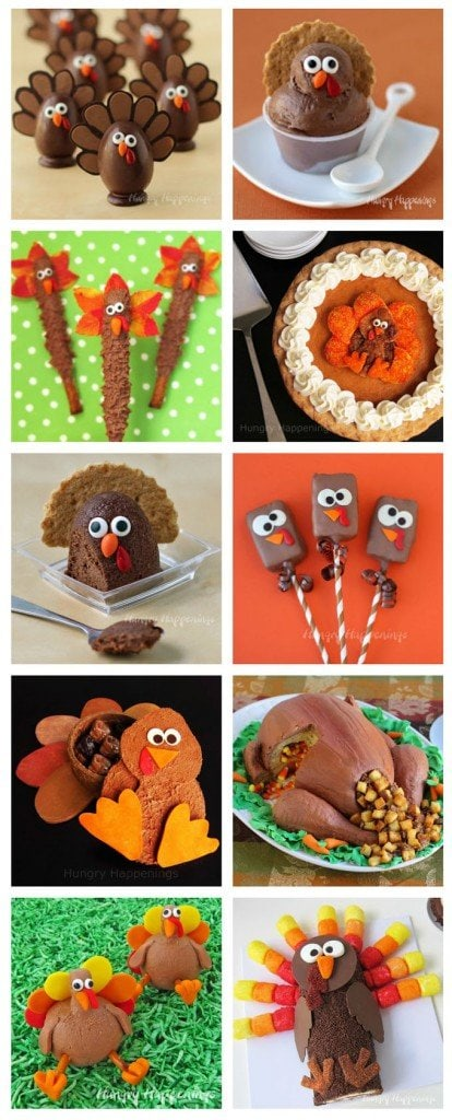 Serve up some fun this Thanksgiving by making some cute Turkey shaped treats.