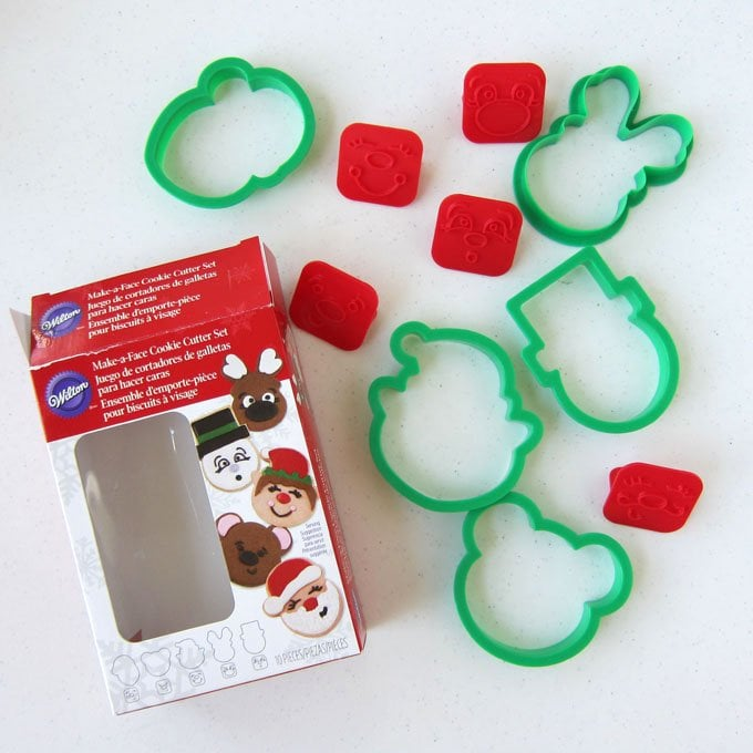 Wilton Christmas Make a Face Cookie Cutter Set