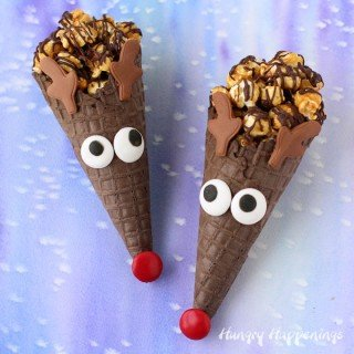 Rudolph Cones make fun Christmas Treats