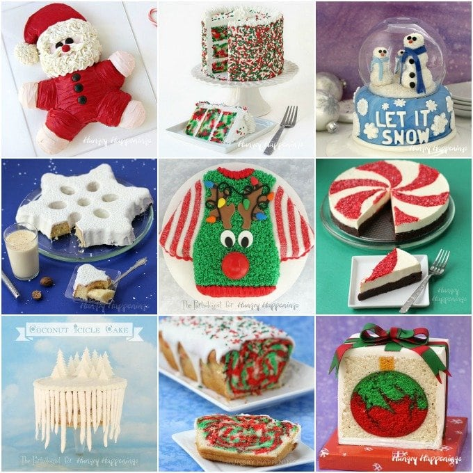 Have fun making and decorating these festive Christmas Cakes. See all the tutorials at HungryHappenings.com.