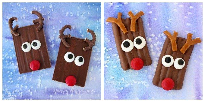 Cute Christmas Treats Rudolph Candy Bars