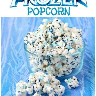 "Winter Wonderland ""Frozen"" White Chocolate Popcorn"