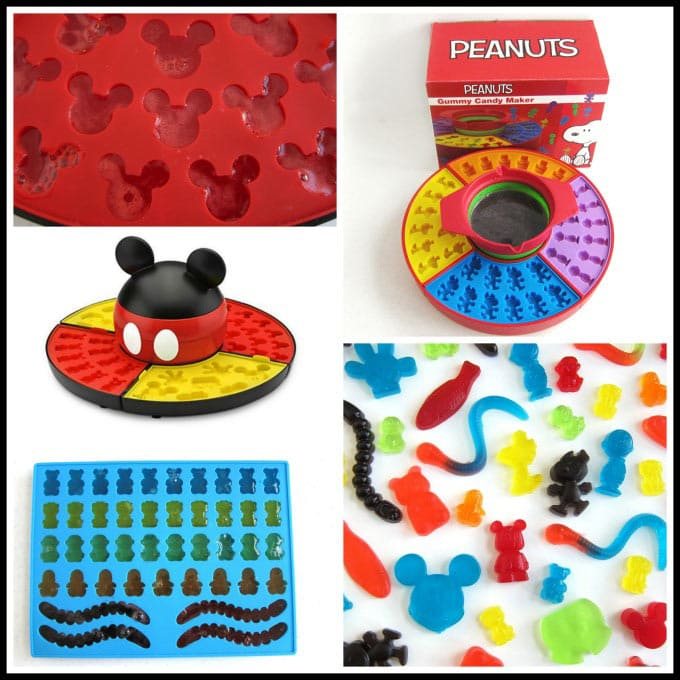 Gummy Candy Makers create Mickey Mouse Gummies, Peanuts Gang (Snoopy, Charlie Brown & Woodstock) Gummies and more.