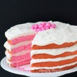 Pink Velvet Torte with Pink Champagne Buttercream Frosting